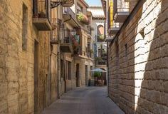 Balcones en San Sebastián, España Foto de archivo
