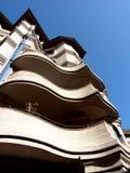 Balcones excéntricos fotografía de archivo libre de regalías