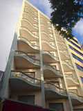 Balcones ondulados Imagenes de archivo