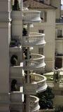 Balcones redondos Fotografía de archivo