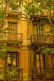 Balconi, Barcellona Immagini Stock Libere da Diritti