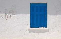 blue balconies Stock Photo