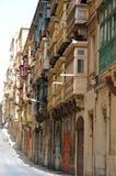 Balconi chiusi Fotografia Stock