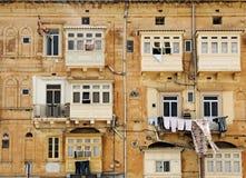 Balconi chiusi Fotografia Stock Libera da Diritti