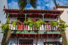 Balconi con i fiori Fotografia Stock