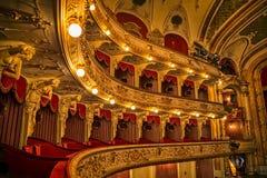 Balconi croati del teatro nazionale fotografia stock libera da diritti