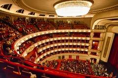 Balconi del Teatro dell'Opera di Vienna immagini stock libere da diritti