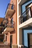 Balconi dell'hotel Immagini Stock Libere da Diritti