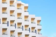 Balconi della camera di albergo Immagine Stock