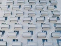 balconi della costruzione, finestre Immagini Stock