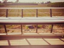 Balconi di legno e sedili di legno Immagini Stock Libere da Diritti