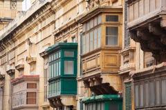 Balconi di Malta Immagine Stock