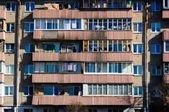Balconi di una Camera del Post-Soviet Fotografie Stock