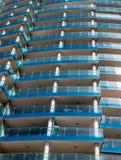 Balconi di vetro blu Fotografie Stock Libere da Diritti