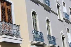 Balconi spagnoli di stile Immagini Stock Libere da Diritti
