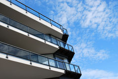 Balconied building Stock Image