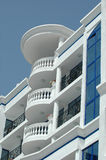 Balconies. And clear sky. Taken on a sunny day Royalty Free Stock Photos
