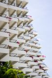 Balconies. The symmetry of many balconies Royalty Free Stock Photo