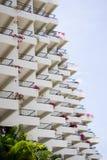 Balconies. The symmetry of many balconies Royalty Free Stock Photo