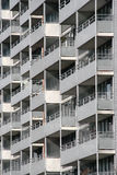 Balconies. Of an apartment building stock image