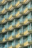 Balconies. Modern balconies made of glass in Budapest stock photos