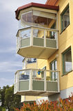 Balconies Stock Image