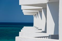 Balconies. In the hotels, way in sea Stock Image