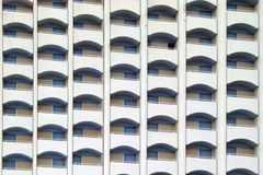 Balconies. In the facade of a hotel Stock Photo