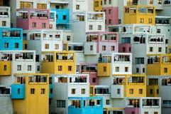 Balconies. Apartments building in Ankara turkey Stock Image