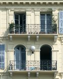 Balconies. Of classic mediterranean house Royalty Free Stock Image