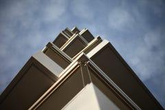 Balconies against skies Royalty Free Stock Photos