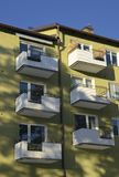 Balconies in apartment residential building Royalty Free Stock Images
