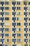 Balconies in apartment residential building Stock Image