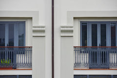 Balconies on apartments Royalty Free Stock Photography
