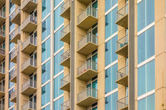 Balconies array  on an apartment building Stock Images