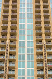 Balconies array on an  apartment building Royalty Free Stock Photography