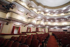 Balconies in auditorium in Vakhtangov Theatre Royalty Free Stock Photos