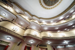 Balconies in auditorium  in Vakhtangov Theatre Royalty Free Stock Images