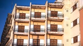 Balconies. Of apartment in Corfu, Greece - stock image Royalty Free Stock Photography