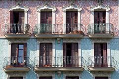 Balconies in Barcelona Royalty Free Stock Photos