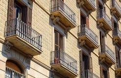 Balconies - Barcelona Stock Photos