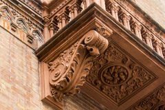 Balconies of Bologna royalty free stock photography