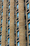 Balconies Between Brick Columns Royalty Free Stock Photos