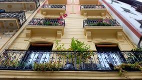 Balconies in Casco Viejo, Billao, Spain. Balconies on exterior of homes in Casco Viejo, Bilbao, Spain Royalty Free Stock Image