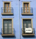 Balconies in Catalonia, Spain Stock Image