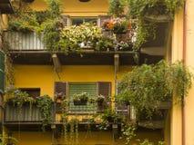 Balconies Cernobbio south lake Como, Italy Stock Photos