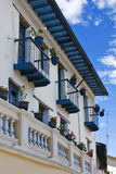 Balconies of the city of Quito stock image