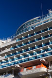 Balconies on a cruise liner Stock Photo