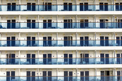 Balconies on a cruise ship Stock Photo