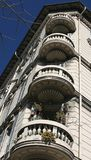 Balconies Detail in Italy Royalty Free Stock Photos